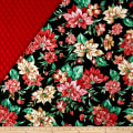 Holiday Editions Double Sided Quilted Pointsetta Black