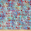 Kaufman Artisan Batiks Songbird Birds Celebration