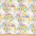 """Circle Play 108"""" Wide Back Ombred Circle Geometric White Pastel"""
