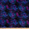 "Circle Play 108"" Wide Back Ombred Circle Geometric Blue Tones"