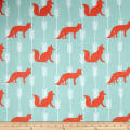 Comfy  Flannel Foxes & Arrows Turq.