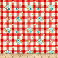 Riley Blake Road Trip Tablecloth Red