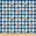 Riley Blake Road Trip Tablecloth Blue