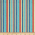 Riley Blake Road Trip Stripe Blue