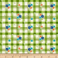 Riley Blake Road Trip Tablecloth Green