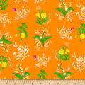 Heather Ross Sleeping Porch Lawn Bouquet Orange