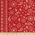 Riley Blake Cowgirl Bandana Red