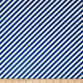 Full Steam Ahead Diagonal Stripe Blue/Oatmeal