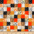QT Fabrics The Mitgration Animal Skin Orange