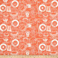 QT Fabrics She Sews Sea Shells Pool Cottons Salmon