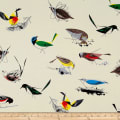 Birch Organic Charley Harper Western Birds Double Gauze Main Cream