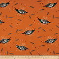 Birch Organic Charley Harper Western Birds Interlock Knit Mountain Quail Multi