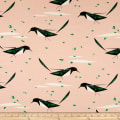 Birch Organic Charley Harper Western Birds Interlock Knit Black-Billed Magpie