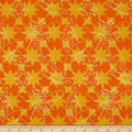 Alison Glass Seventy Six Flourish Marigold Orange