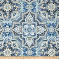Kaufman Holiday Flourish Metallic Medallions Blue