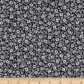 Kaufman Sevenberry Petite Garden Flower and Leaves Navy