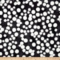 Kaufman Black & White Big Dots Charcoal