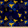 Collegiate Broadcloth University of West Virginia Block Print