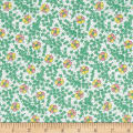 Nana Mae 1930's Medium Floral Green
