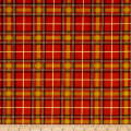 Timeless Treasures Holiday Plaids Metallic Preppy Plaid Spice