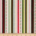 Modern Metallic Christmas Modern Metallic Stripe Green