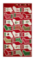 "Traditional Metallic Christmas Stockings 23.5"" Panel Bright"