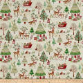 Traditional Metallic Christmas Scenic Bright