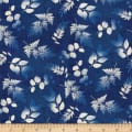 Indi-glow Small Leaves Allover Blue