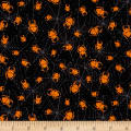 Under a Spell Spider Web Allover Black/Orange