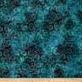 Wilmington Batiks Petal Burst Dark Blue