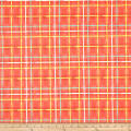Art Gallery Mad Plaid Jersey Knit Electric Watermelon Plaid