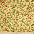 QT Fabrics Serenity Prayer Butterfly Vine Gold