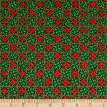 QT Fabrics Home For The Holiday Snowflake Tiles Green