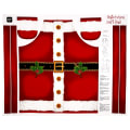 "QT Fabrics Sew & Go Metallic Santa's Apron 35"" Panel Red"