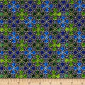 In Bethlehem Metallic Stained Glass Royal Blue