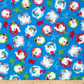 QT Fabrics Frosty the Snowman Everyone's Fav Snowman Toss Royal Blue