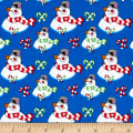 Frosty the Snowman Everyone's Fav Snowman Toss Royal Blue