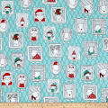 Ink & Arrow Mingle & Jingle Santa's Crew Picture Patches Wintergreen