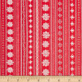 Ink & Arrow Mingle & Jingle Snowflake Stripe Red