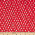 Ink & Arrow Mingle & Jingle Linear Argyle Red