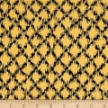 QT Fabrics Queen Of We'en Sketchy Plaid Maize