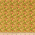 QT Fabrics Harvest Greetings Leaf Berry Butterscotch