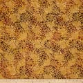 Timeless Treasures Tonga Batik Vineyard Fairy Flower Honey