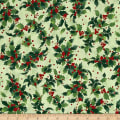 Retro Santa Tossed Holly Light Olive