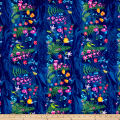 Wildflowers Floral Stripe Light Navy