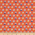 Sail Away Sailboats Dark Coral