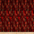 Italian Designer Viscose Jersey Knit Stripe Red/Brown/Taupe