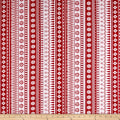Frosty Folks Flannel Nordic Stripe Red