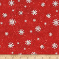 Jolly Ole' St. Nick Snowflake Red