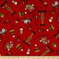 Glad Tidings Christmas Characters Red
